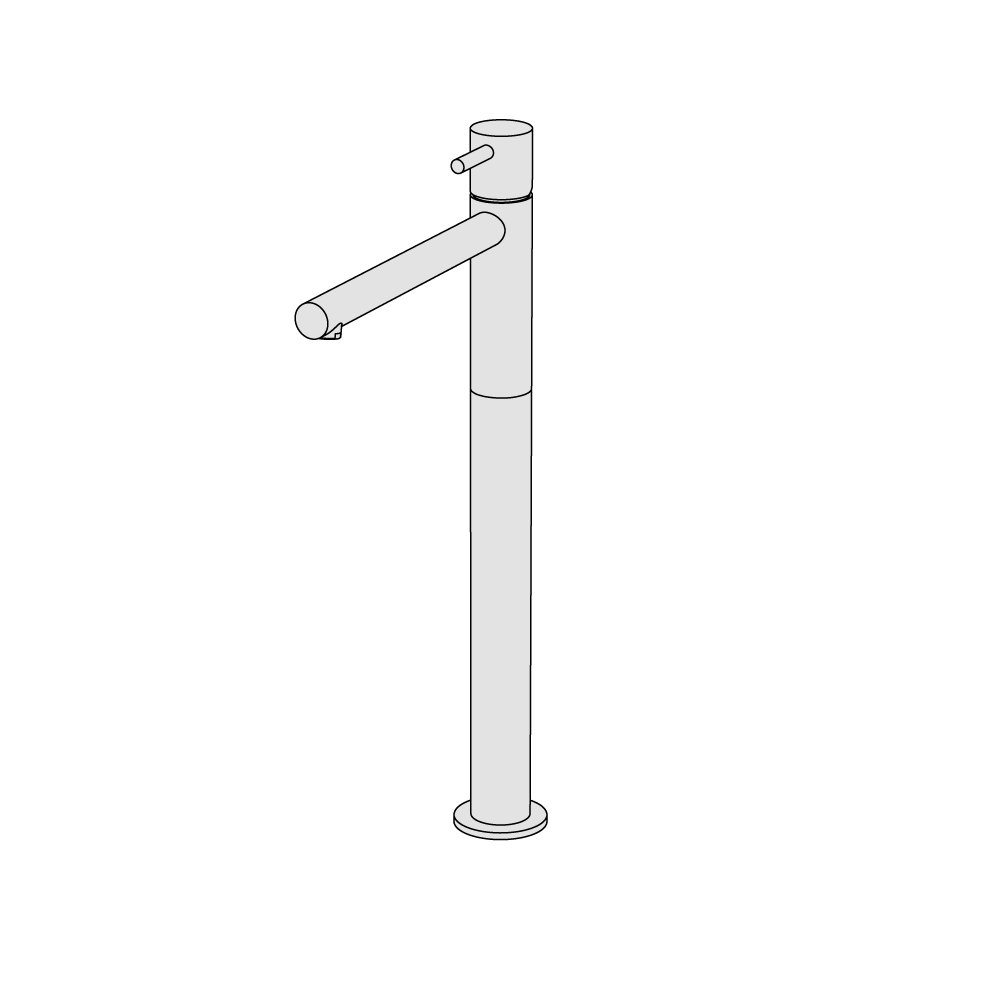 Miscelatore lavabo rialzato alto