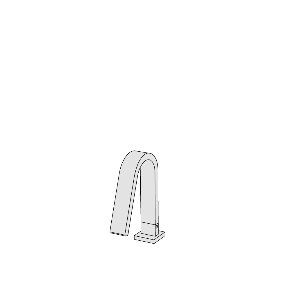 Deck-mounted spout