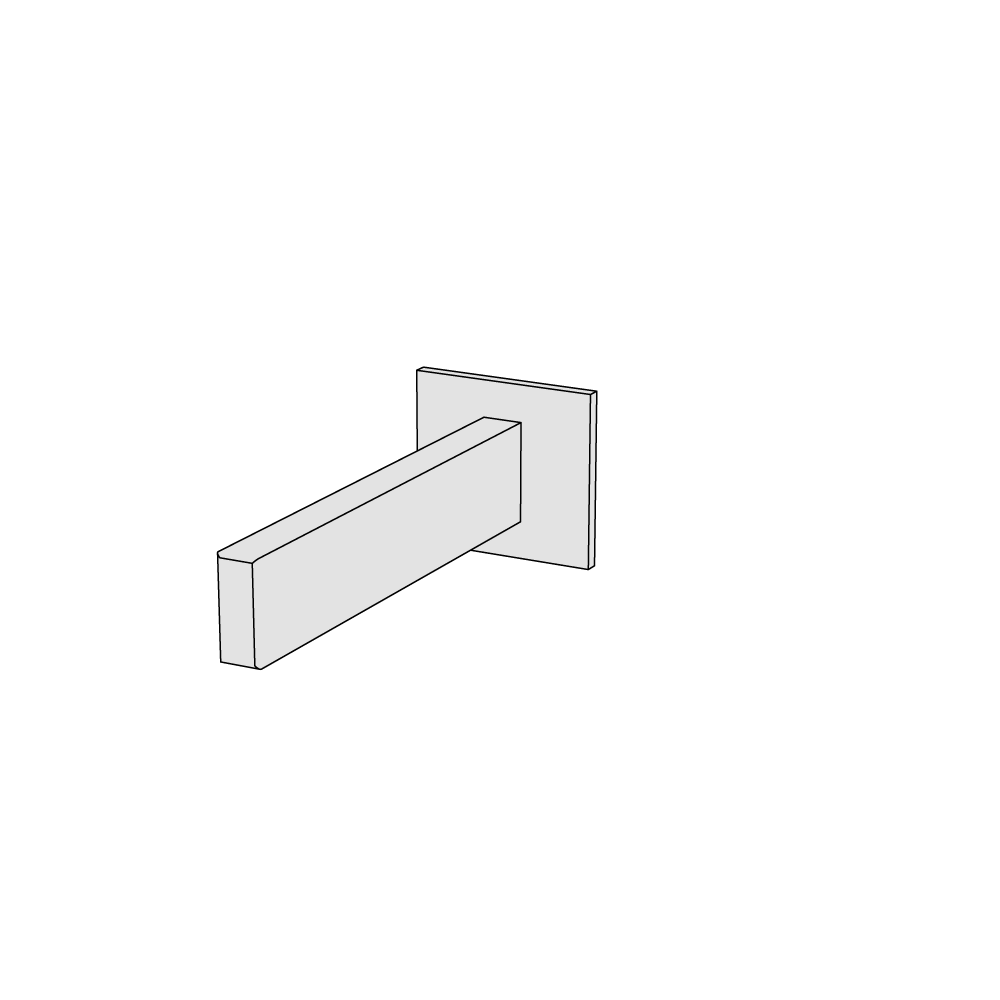 Wall-mounted spout