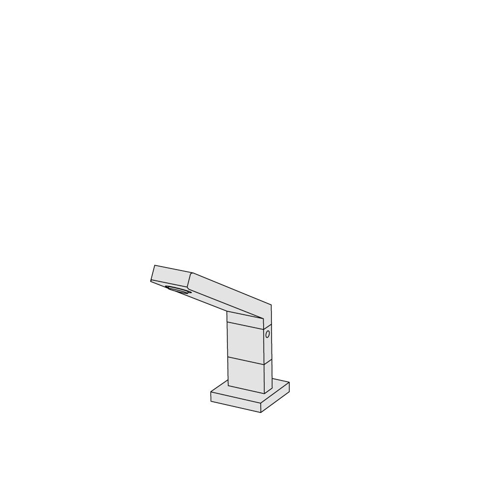 Deck-mounted spout