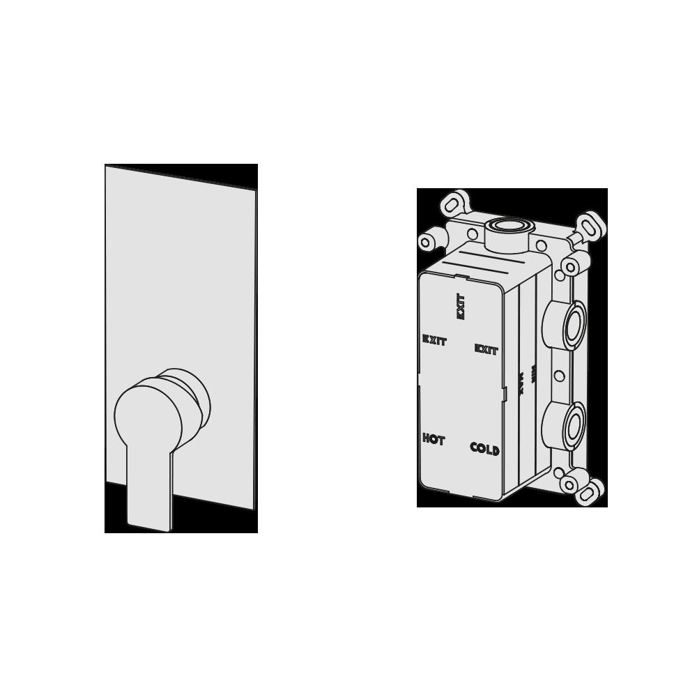 Multiplo 1-way manual mixer
