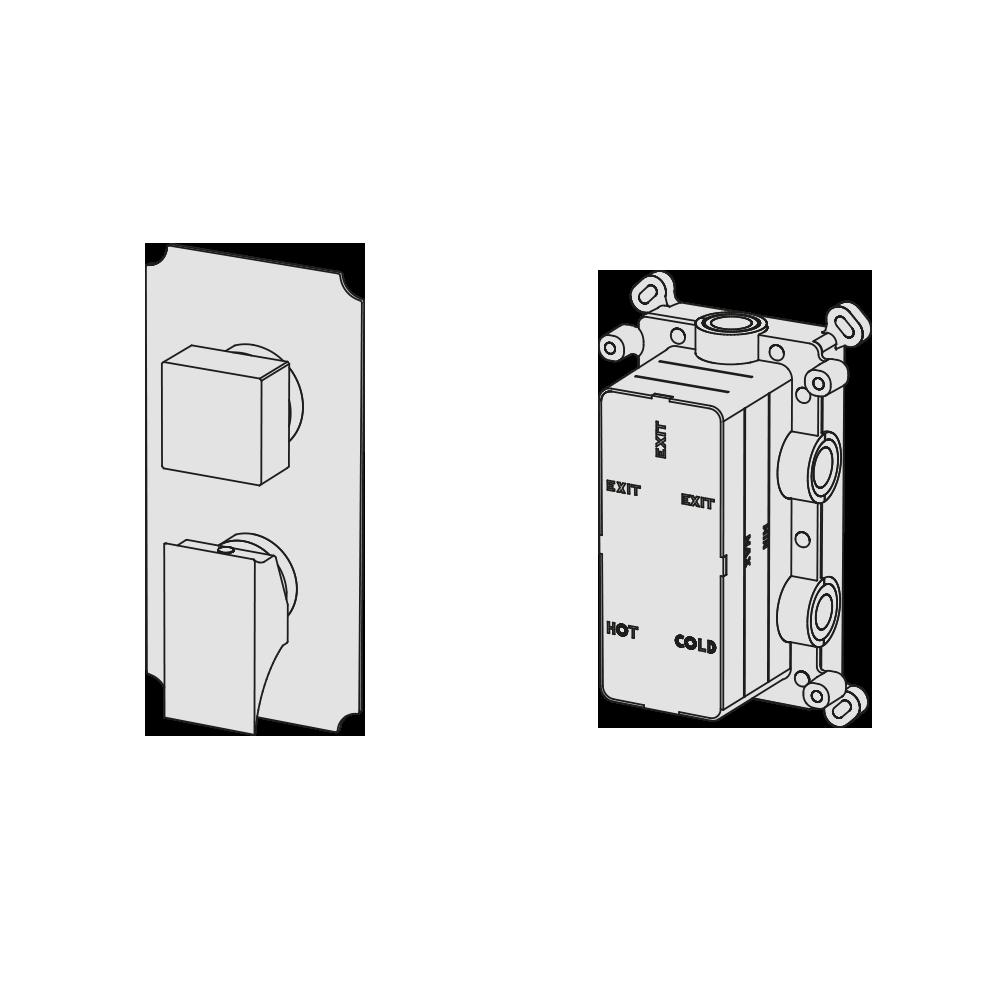 Multiplo 3-way manual mixer