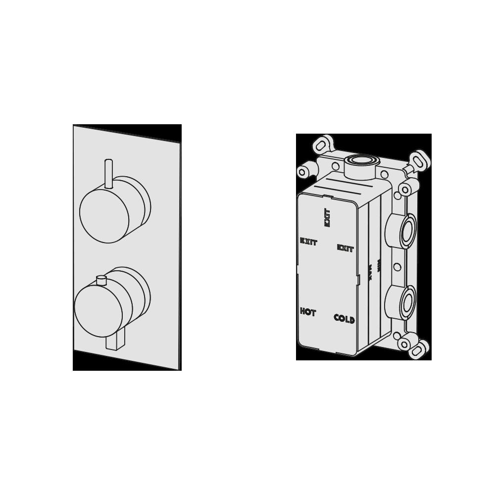 Multiplo termostatico 3 vie