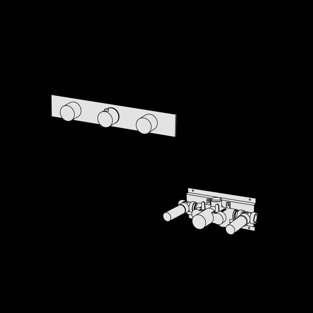 Termostatico con 2 rubinetti di arresto