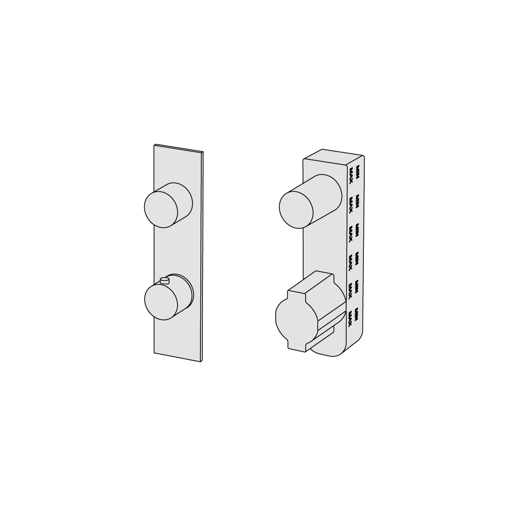 Thermostatic with 3 ways diverter