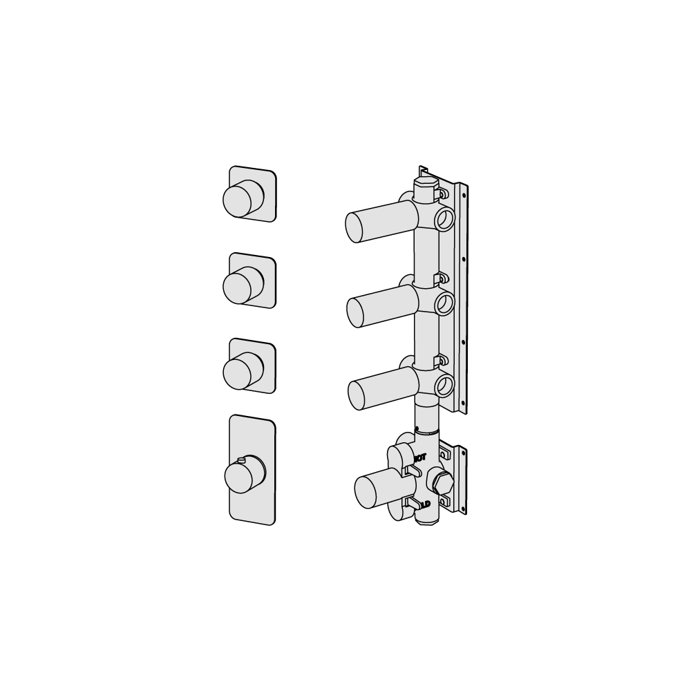 Thermostatic with 3 manifolds