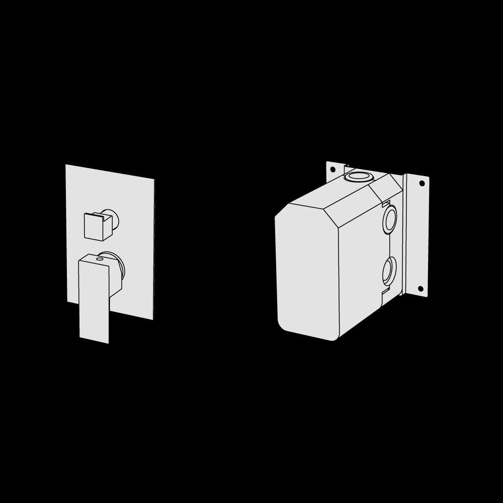 Shower mixer with 2 ways diverter
