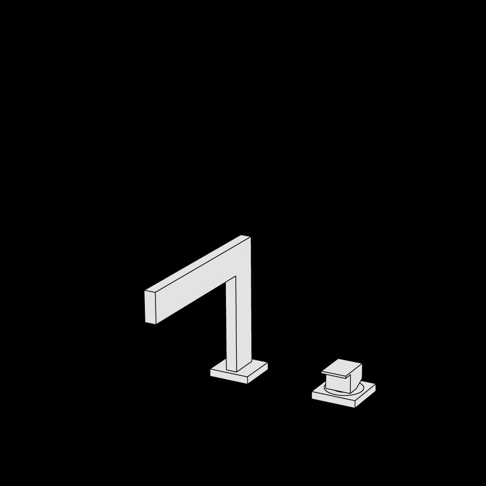 2-hole basin mixer