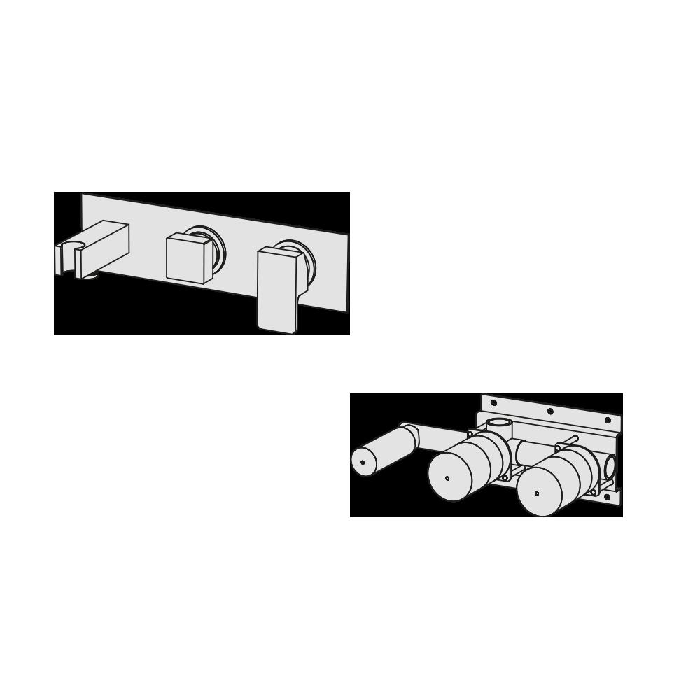 Horizontal manual shower mixer