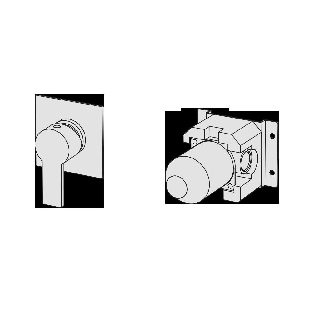Wall-mounted mixer