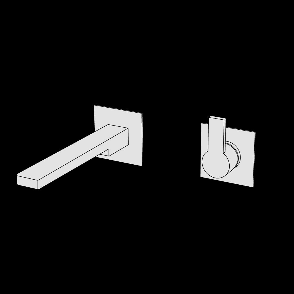 Miscelatore lavabo incasso 2 fori
