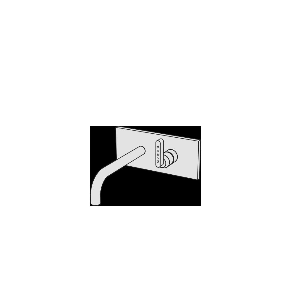Miscelatore lavabo incasso canna corta