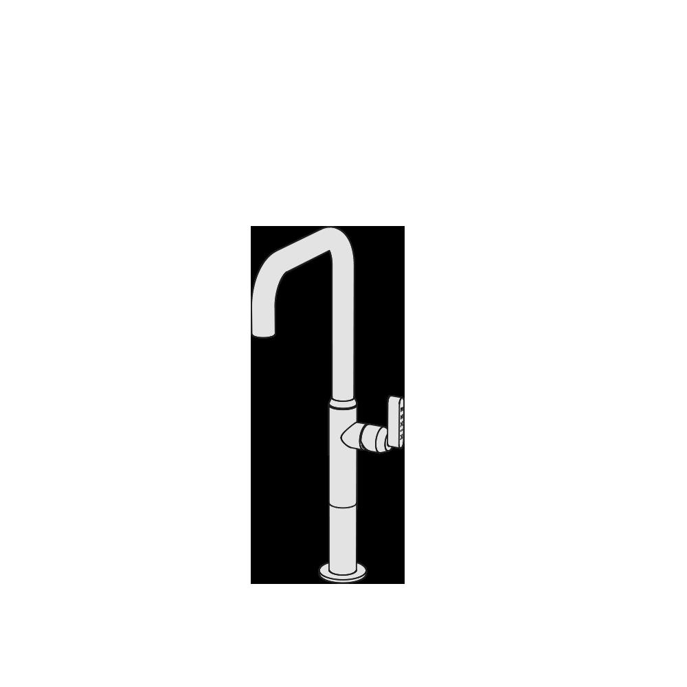 Miscelatore lavabo rialzato canna alta