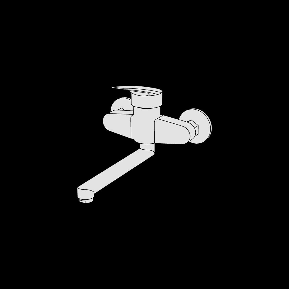 Single hole mixer