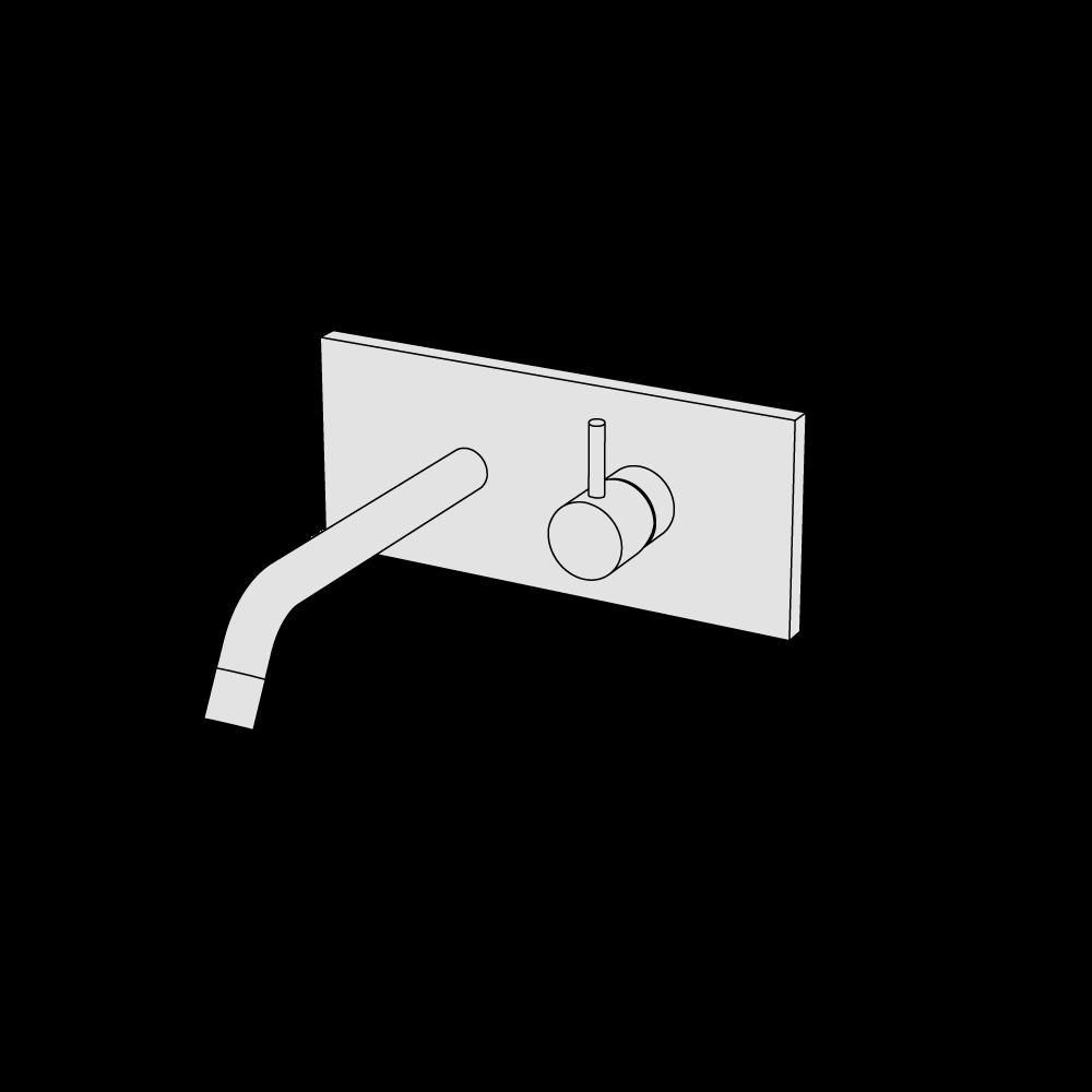 Miscelatore lavabo incasso