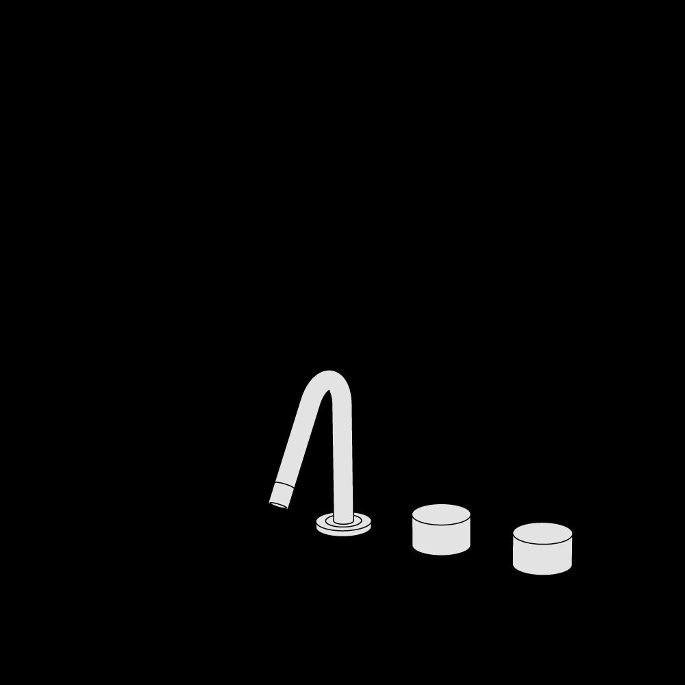 Rubinetto lavabo 3 fori
