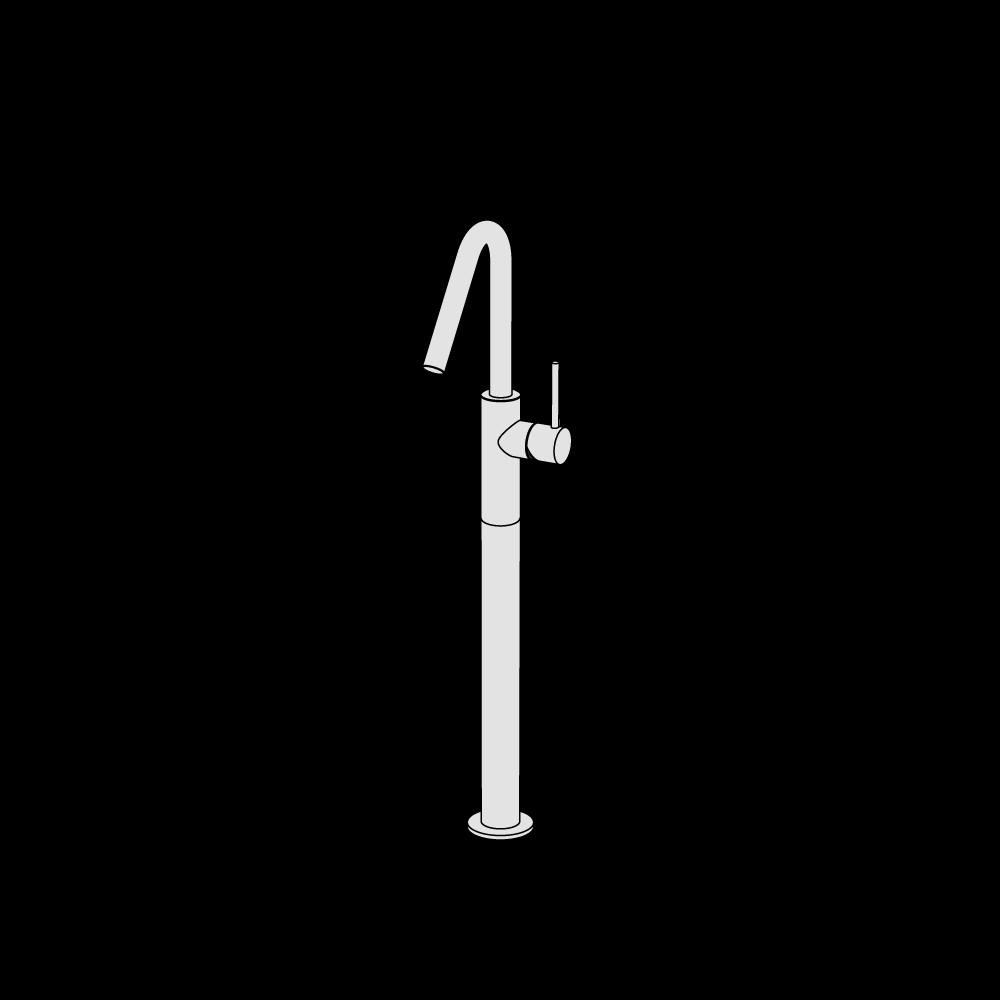 Miscelatore lavabo rialzato alto canna media