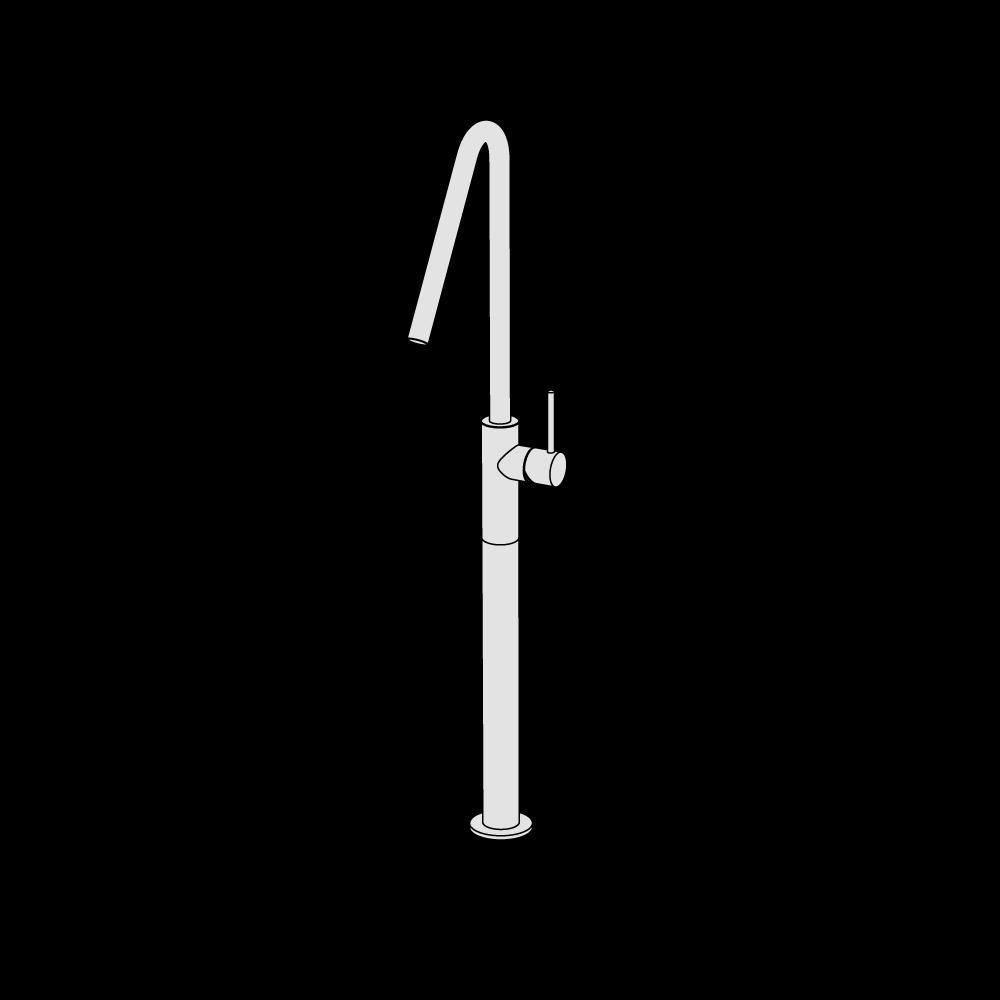 Miscelatore lavabo rialzato alto canna alta