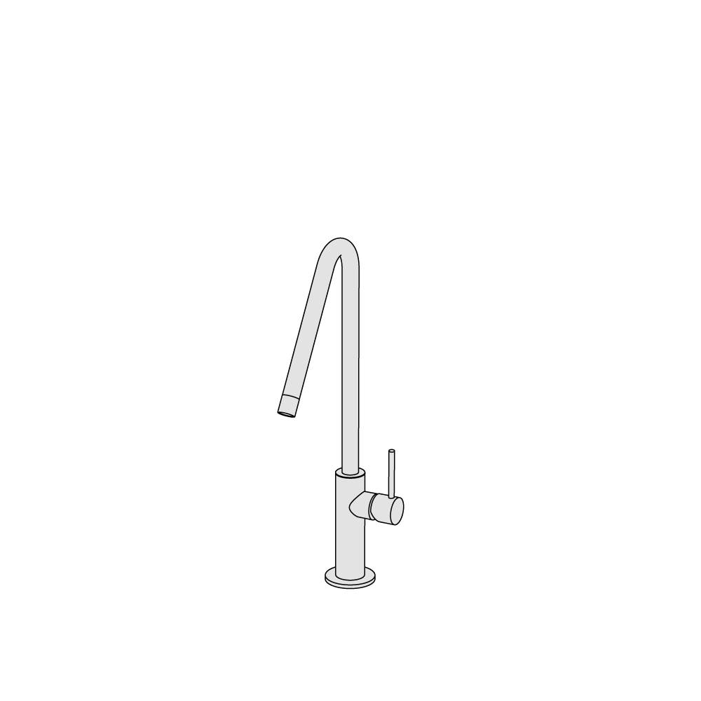 High-spout basin mixer