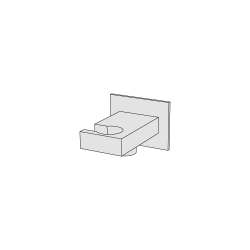 Rectangular water connection with hand shower holder