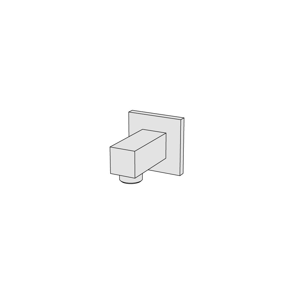 Squared water connection