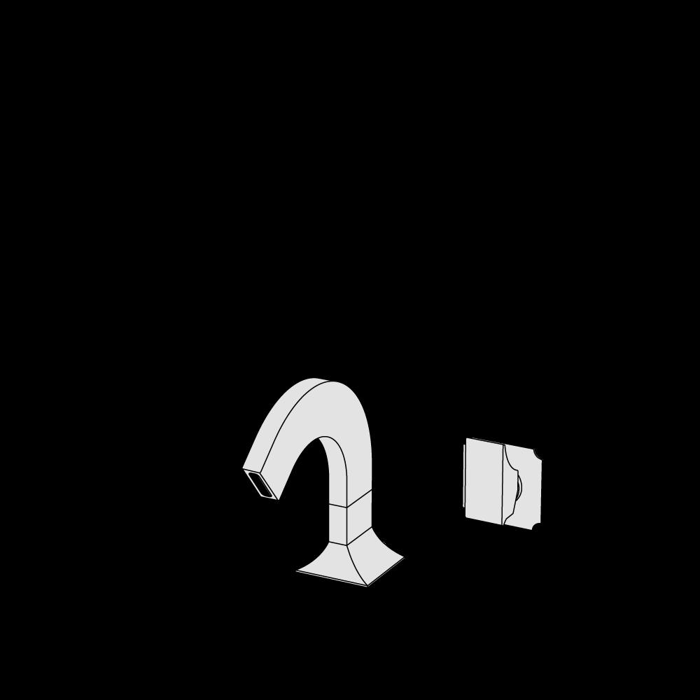 2-hole bidet mixer