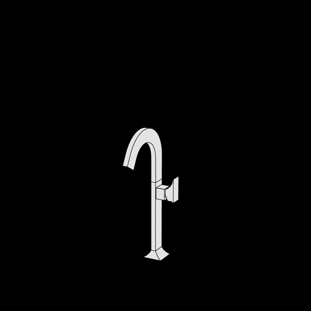 Miscelatore lavabo rialzato