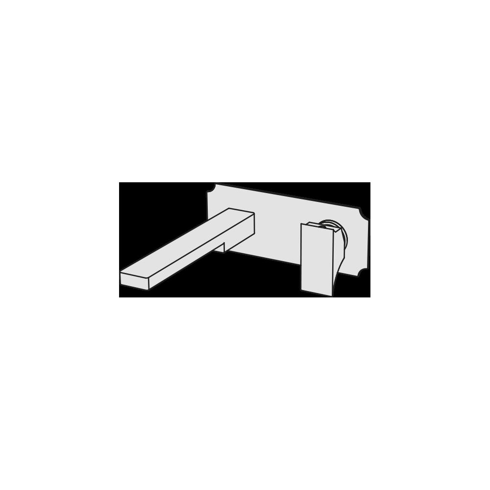 Built-in basin mixer