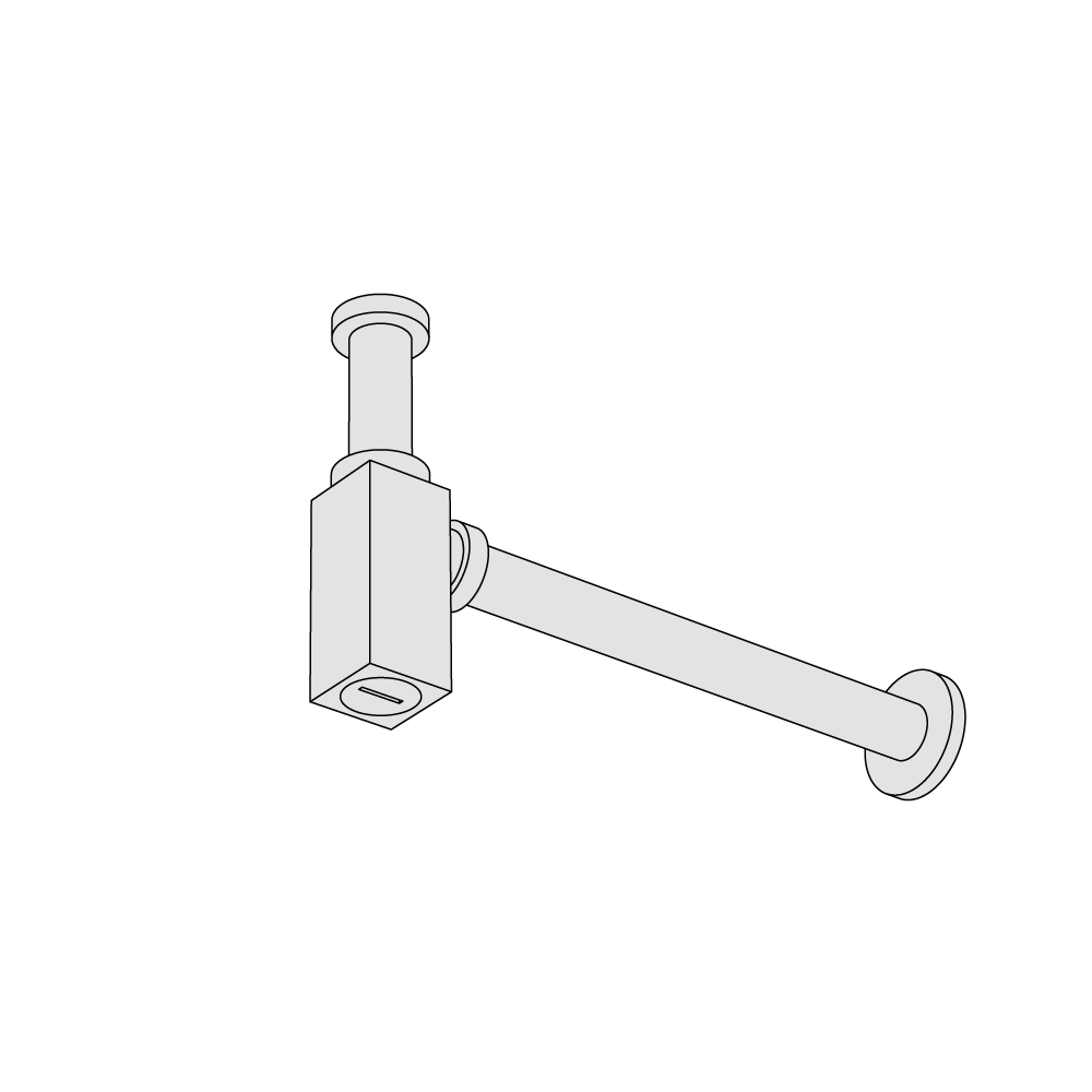 Squared siphon