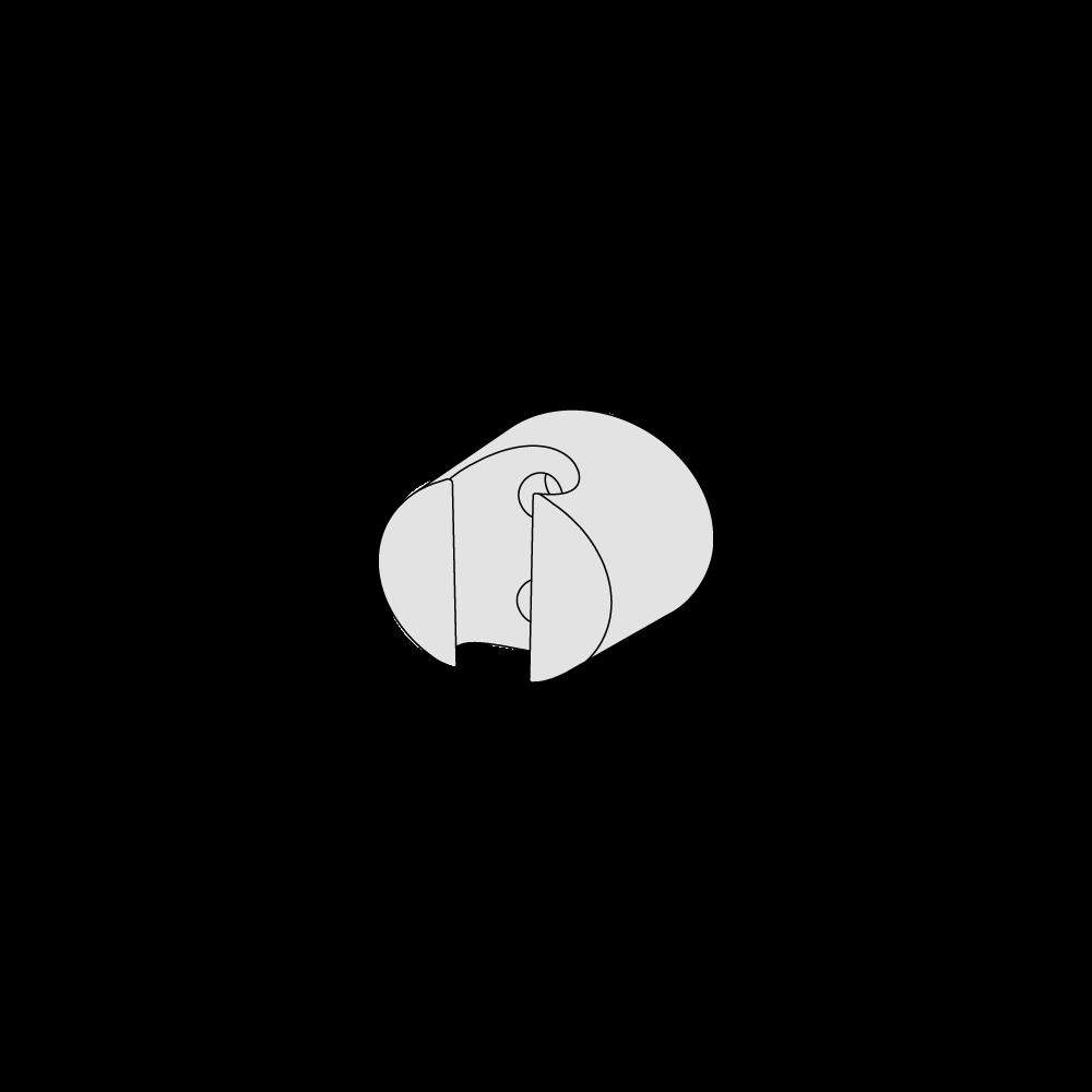 Round hand shower holder