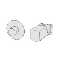 Coaxial thermostatic