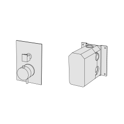 Coaxial thermostatic with 2 ways diverter