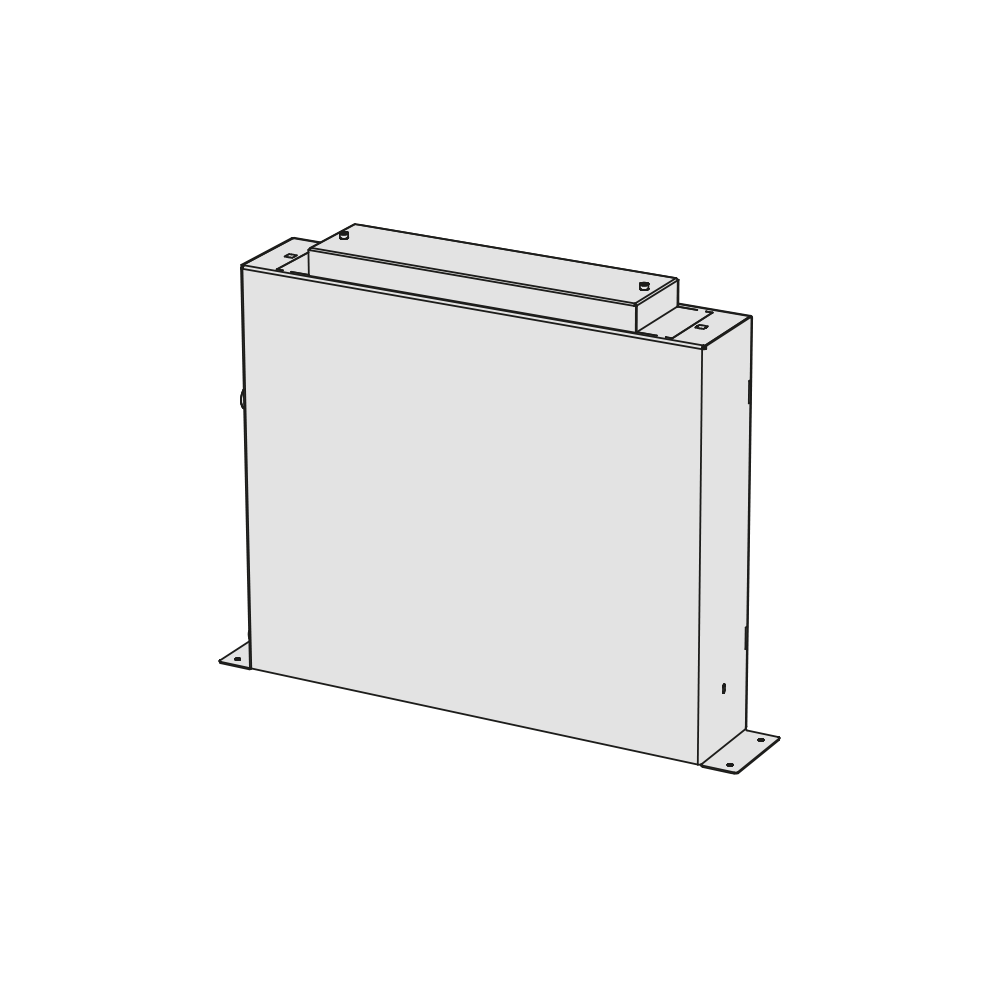 Built-in box for 3-hole bath group