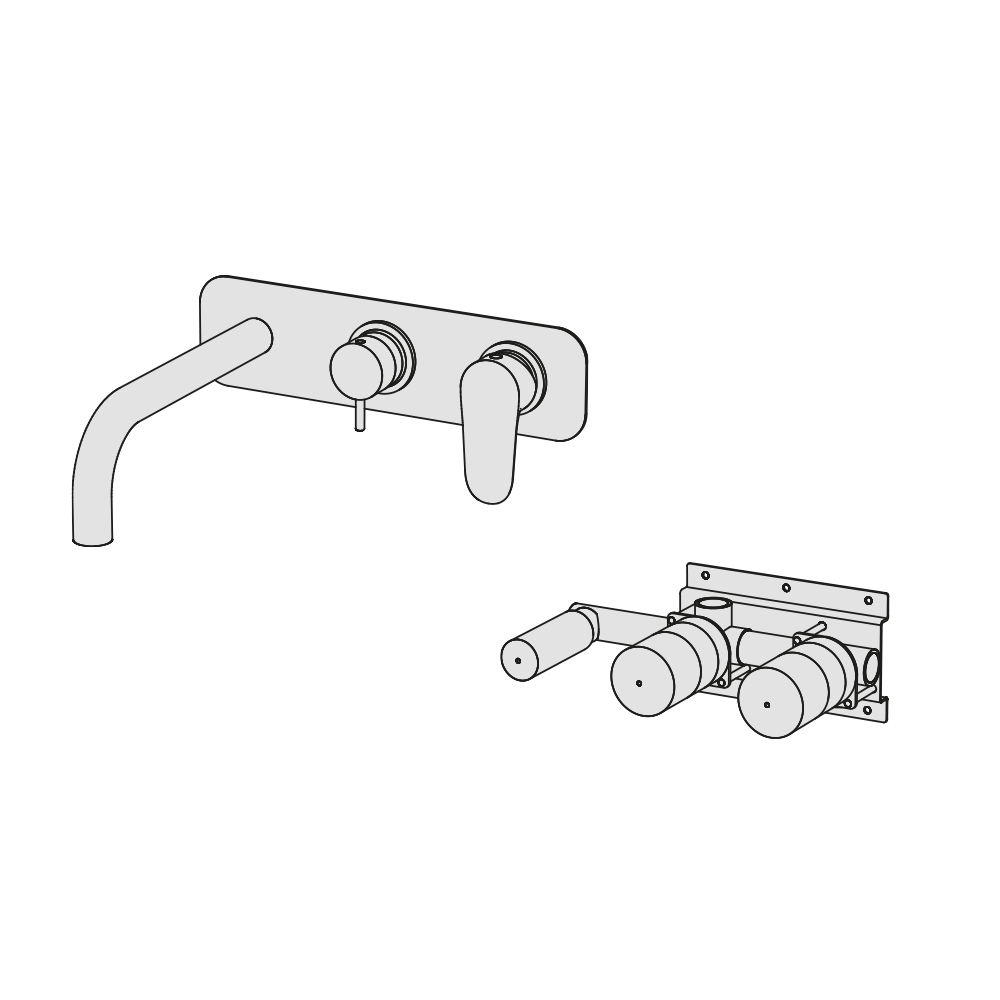 Vasca incasso orizzontale meccanico